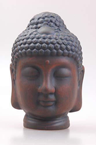 MYFAVORITES Buddha Kopf aus Terrakotta– Deko Artikel für Wohnung und Haus