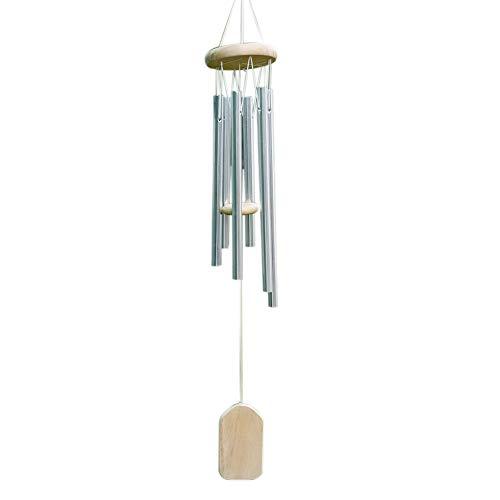 ZENING Campana de viento de 6 tubos para decoración de jardín, decoración bonita y agradable