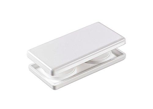 Magnetgriff, Gardinenmagnet, Gardinengriff, Griff für Rollos, Schiebevorhänge und Gardinen, Größe 4 x 8 cm, weiß