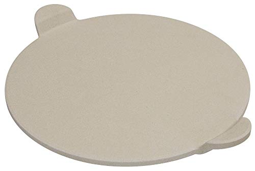 """Best Pizza Baking Stone with Handles for Grill, Oven & BBQ—15"""""""