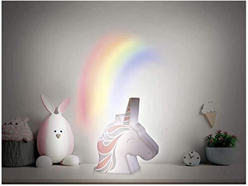Luz nocturna de proyección de pared «unicornio» blanco multicolor, 15,5 x 13 x 4,5 cm