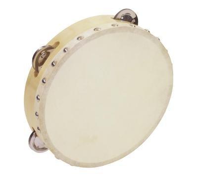 Pandereta HOLLOW con 4 pares de sonajas, madera, 20cm - Instrumento de mano / Aro de sonajas - klangbeisser