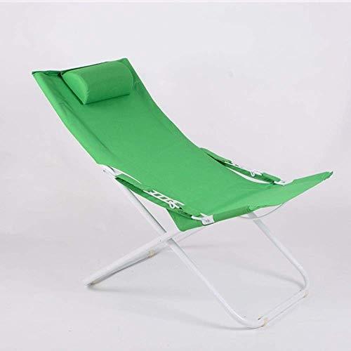 WJJJ WJJJ Patio Lounge Stühle Für Kinder Mit Outdoor-Kissen Metall Rasen Kompakte Reise Strand Klappkippstuhl Sitz (Farbe: Grün)