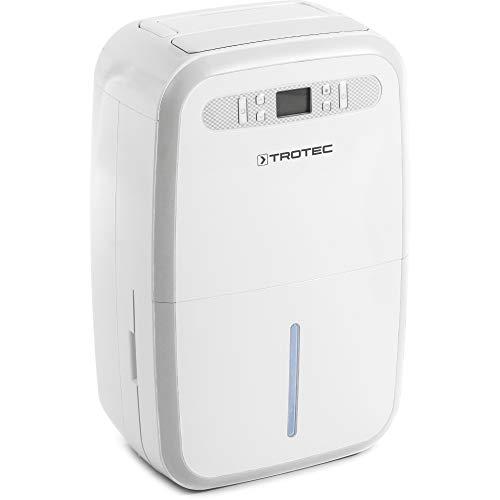 TROTEC Deshumidificador eléctrico TTK 95 E, 30L/24h, Depósito 7,2L, Portátil, Para Habitaciones de hasta 90m²/230m³, 700 W,Auto-Apagado, Higrostato Automático, etc.