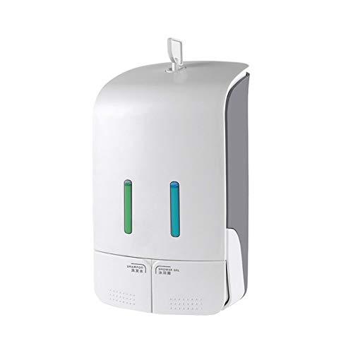 liuxiao Dubbele Vloeibare Zeep Dispenser Muur Gemonteerd Shampoo Dispenser Dubbele Zeep Fles Containers Voor Badkamer Hotel