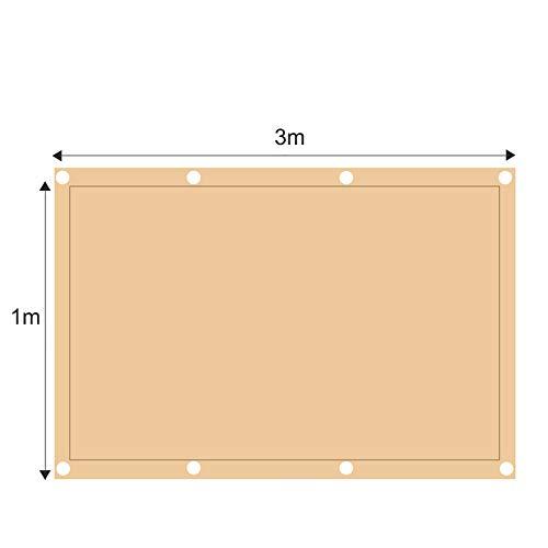 ZJDU Sonnensegel Canopy Rechteck Sand, Sonnensegel UV-Block Für Patio Garden Outdoor-Anlage Und Aktivitäten,1x3m