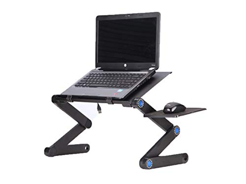 Laptop Stand Tray - Lapdesk - Work from Home - Adjustable Foldable Lightweight - Table Desk - Standing Desk - Aluminum Portable and Adjustable Laptop Computer Table/Stand with Ventilation Holes