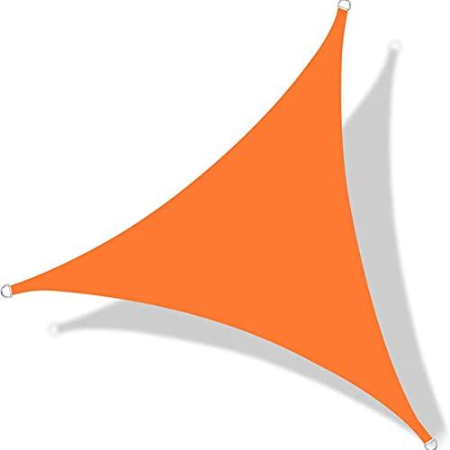 FGBUYGFR Parasol Triangular, Protector Solar Anti-UV Resistente al Agua, Fácil de Instalar y Quitar, Toldo, con Cuerdas Libres, Cubierta Solar para Patios, Jardín, Estacionamiento,Instalaciones para A