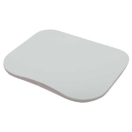 Micro-Pro Laptop Tray Lap Desk With Cushioned Bottom Portable Computer Writing Reading Work Homework Study Dinner Table For Bed Sofa Couch Bus Outdoors Library University College Student - Silver