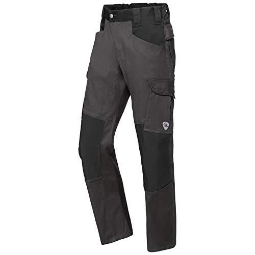 BP 1826-033-5632-35/36l Stoffmischung mit Stretch Arbeitshose für Männer, Höhere Taille am Rücken, 70% Baumwolle/28% Polyester/2% Elasthan, Anthrazit/Schwarz, 35/36L Größe