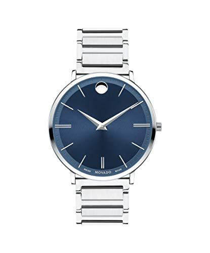 Movado Ultra delgado azul Dial Mens Reloj 0607168