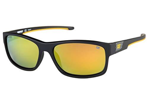Caterpillar Cobel Rectangular Polarized Sunglasses, Matte Black, 59 mm