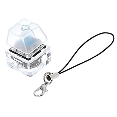 Y-QUARTER RGB Mechanical Switch Keychain Light Up Backlit for Keyboard Switches Tester Kit with LED Light Toys Stress Relief Gifts,Perfect for Game Lovers