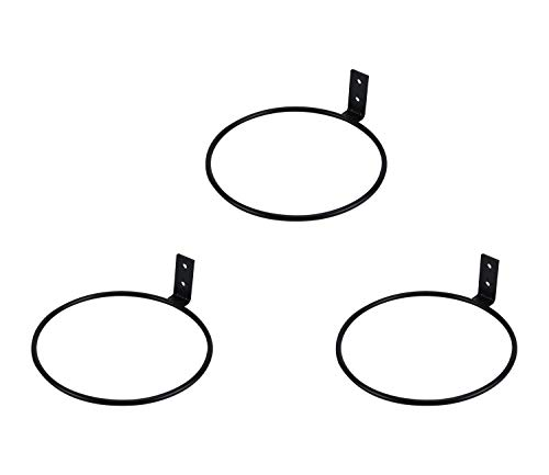 ESYLIFE Blumentopfhalter Ring Wandmontage Metall Blumentopf Haken Hänger Wandhalterung