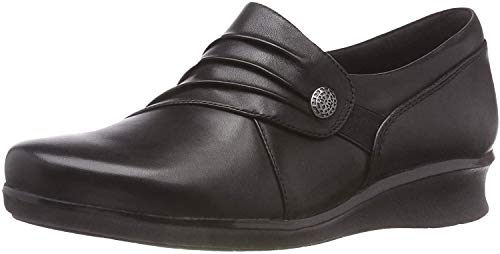 Clarks Damen Slipper, Schwarz (Black), 41 EU