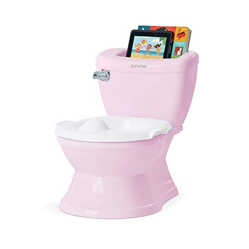 Summer My Size Potty with Transition Ring & Storage, Pink – Realistic Potty Training Toilet – Features Interactive Toilet Handle, Removable Potty Topper and Pot, Wipe Compartment, and Splash Guard