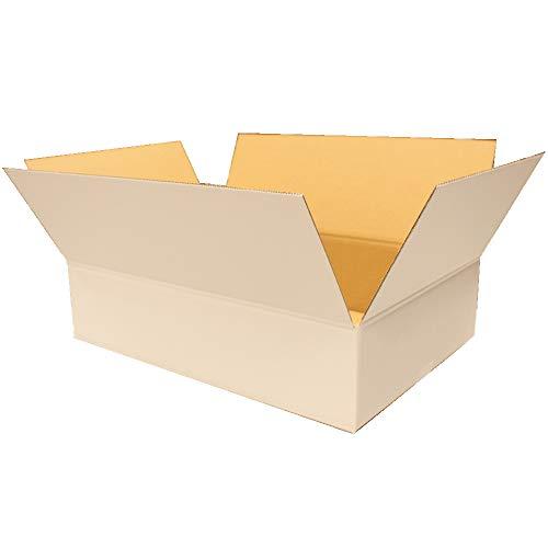 愛パックダンボール ダンボール箱 120サイズ 白 40枚 段ボール 日本製 無地 薄型素材