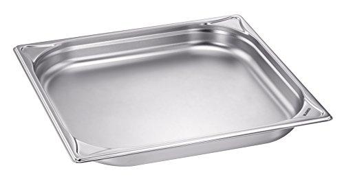 Blanco 1550066 Gastronorm-Behälter, Edelstahl, GN 2/3-40, ungelocht, Inhalt 3,3 Liter