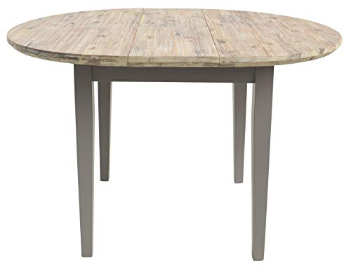 Florence round extended table (92-117cm). Stunning extendable kitchen table in Dove Grey. Quality round table.