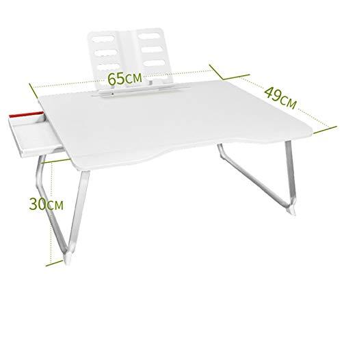 SXGKY Bandeja De Sofá Plegable, Mesa para Ordenador Portatil, Soporte Portátil Aluminio Plegable del Ordenador Portátil para PC Portátil Laptop De Cama, Sofá Mesa Plegable portátil FF (Color : White)
