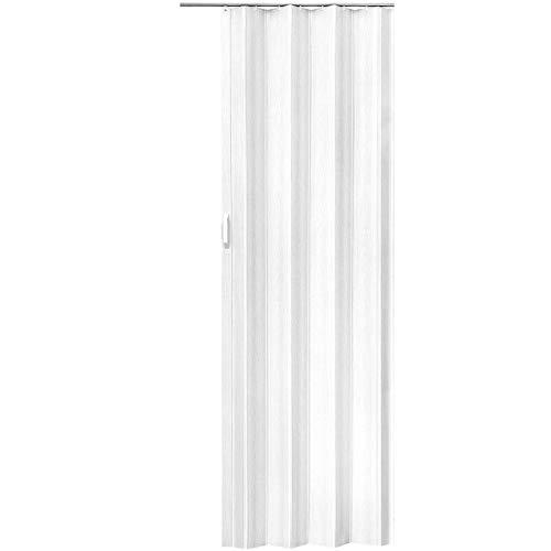 LD - Puerta corredera plegable de PVC (80 x 203 cm)