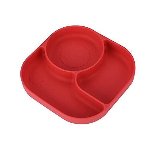 FunFive Plato para niños, plato para bebé, de silicona antideslizante, sin BPA, lavable, para niños, plato para bebés (estilo 4)