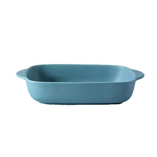 Non Stick Pizza Scherper Tray For Oven Kitchen Tools Bakvormen Plate Bakken Met Handvat Keramische Gemakkelijk Te Reinigen Anti-hot Hands (Color : Blue)