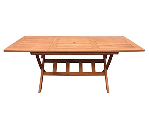 GRASEKAMP Qualität seit 1972 Gartentisch Santos 200x100cm Holztisch Esstisch Klapptisch