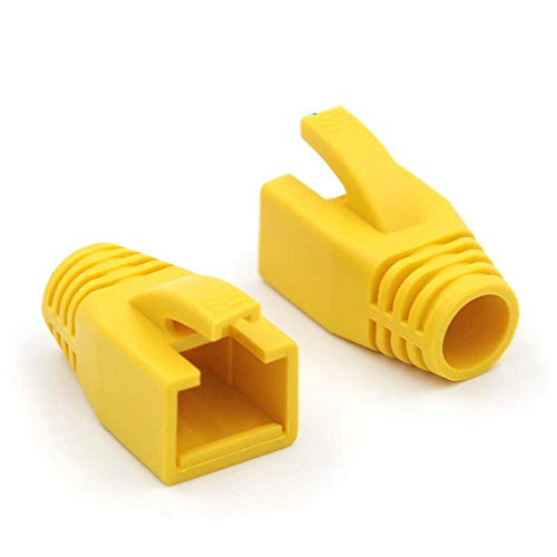 VCE 20 Unidades Cat6A / Cat7 RJ45 Funda para Conector de Cable de Red Ethernet - Amarillo