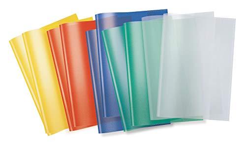 HERMA 19991 Heftumschläge DIN A5 transparent, durchsichtig, Hefthüllen aus strapazierfähiger und abwischbarer Polypropylen-Folie, 10er Set Heftschoner für Schulhefte, bunt