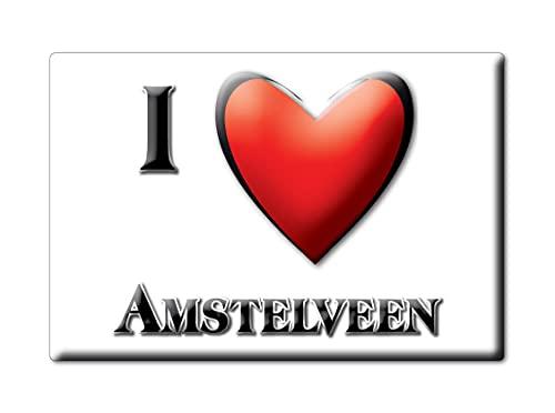 AMSTELVEEN (G) FRIDGE MAGNET NETHERLANDS NOORD HOLLAND SOUVENIR I LOVE GIFT PRESENT