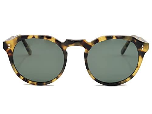 MINM Store Gafas de Sol Polarizadas para Mujer | Protección uv400 | Filtro solar Lentes Verdes | Acetato | Categoría 3 | Gafas de sol modernas Carey