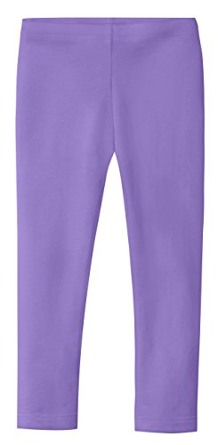 City Threads Girls' Leggings 100% Cotton for School Uniform Sports Coverage or Play Perfect for Sensitive Skin or SPD Sensory Friendly Clothing, Medium Purple, 3T