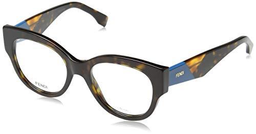 FENDI Damen FF 0271 086 50 Sonnenbrille, Braun (Dark Havana)