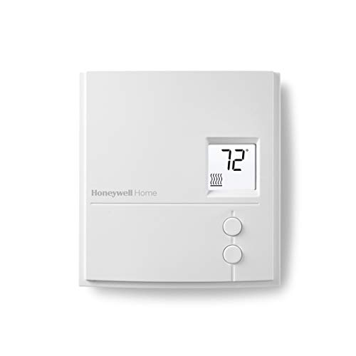 Honeywell Home RLV3150A1004/E RLV3150A Non-Programmable Digital Electric Heat Thermostat for Electric Baseboards and Convectors