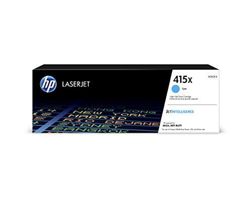 HP 415X (W2031X) Original Toner (mit hoher Reichweite für HP LaserJet Pro M454, M479) cyan