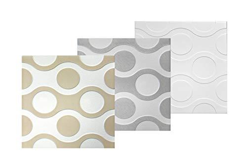 30 qm | Deckenplatten | XPS | formfest | Hexim | 50x50cm | Nr.98 |weiß