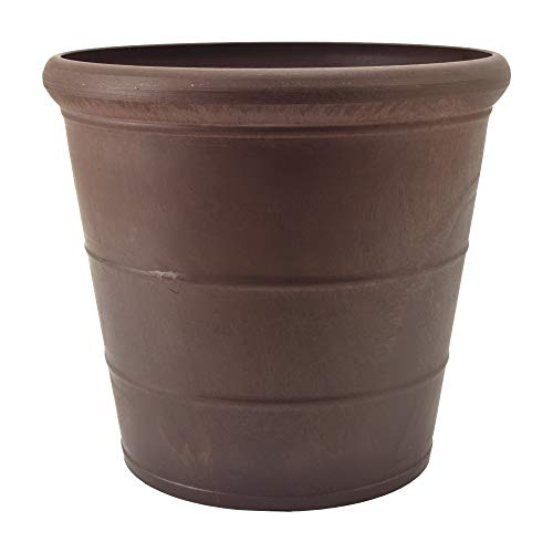 of fiskars indoor plants dec 2021 theres one clear winner PSW NUR28C Drop Planter, 11.5 by 10.5-Inch, Chocolate