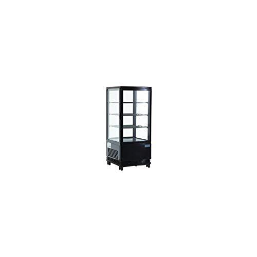 Vitrina réfrigéré vertical de mesa con 3repisas, 68Litros), 0°C/+ 12°C, color negra
