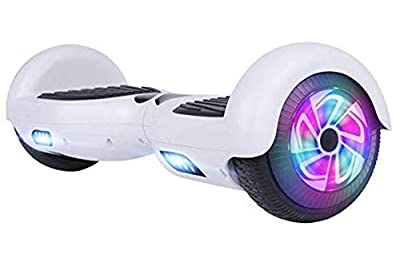 CBD Two-Wheel Hoverboard for Kids, 6.5 Inchs Self Balancing Hoverboard with LED Light- UL 2274 Certified, White Without Bluethooth