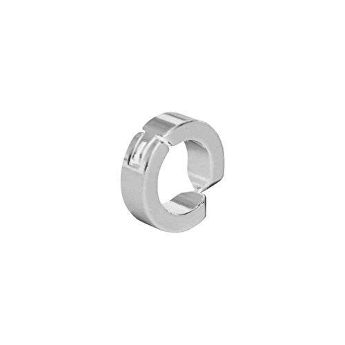 Gankmachine 1x Uomo Hoop Magnetic Acciaio Titanio Orecchio Clip No Ear Piercing Hole Orecchini Falso Argento