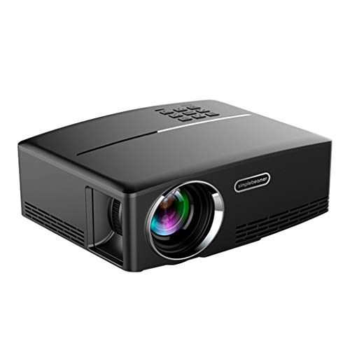 beamer LIU- Projector Home Mini-Projektor LED-bewegliche Home Entertainment 1080P HD Projektor-Projektions-Bildgröße 30-120 Inches (cm)