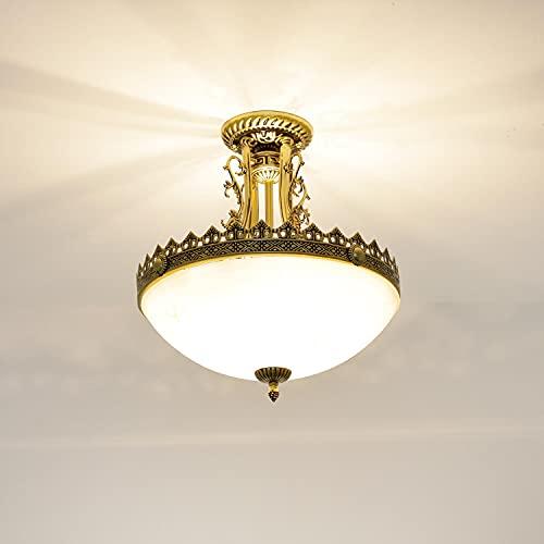 Jugendstil Lampe Deckenleuchte rund 3x E27 bis 60W 230V Jugendstil Messing antik Lampe Beleuchtung Schlafzimmer Wohnzimmer