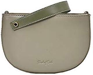 Adebie - New Shell Small Square Handbag Brand Shoulder Bag PU Fashion Women Clutch Bag Panelled Zipper Female Half Round Messenger Bag Green []