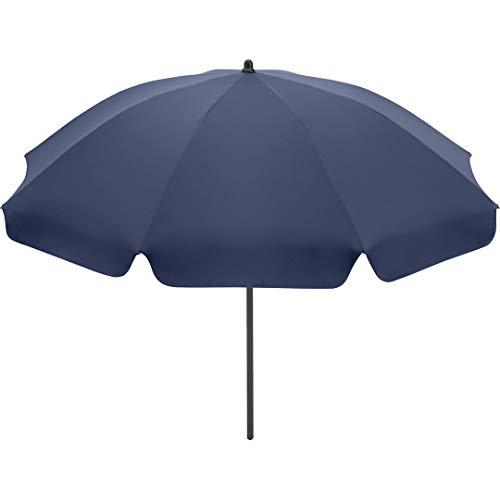 FARE Sonnenschirm Klassik Gr. S - 165cm Durchmesser - UV-Schutz 50+ für Balkon Garten Terrasse Sommer - Titan-Finish inkl. Drehfeststeller Sicherheitsschieber Tragetasche (Nachtblau)