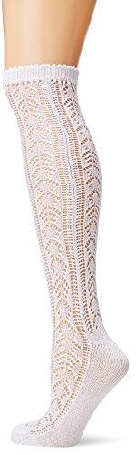 Lusana Damen Trachtenstutzen Lara Trachtenstrümpfe, Weiß (weiß 26), 36/37 (Herstellergröße: 36-38)
