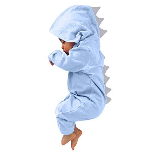 VECDY Conjuntos Bebe Niño Invierno, Tops Moda 2019 Pijama Bebé Niños Dinosaurio Sudadera con Capucha Mameluco Cremallera Ropa Mono(0-18m) Chaqueta Primavera Otoño Invierno Linda Suave(Azul,9M)