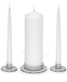 Hortense B Hewitt Vintage Pearl Unity Candle Holders Wedding Accessories