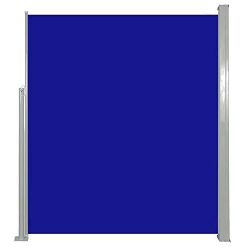 vidaXL Seitenmarkise 160x500cm Blau Sichtschutz Windschutz Sonnenschutz Balkon