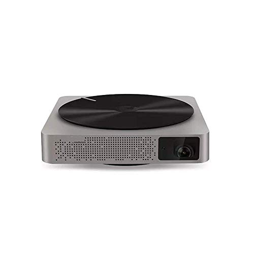 Mini proyector portátil DLP 1280 x 720 2000 lúmenes Proyección de Smart Voice Side Home Theatre Espectacular Proyecto para presentaciones PPT comerciales Home Theater Lalay